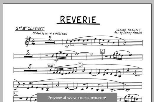 Reverie, for Orchestra, L.68: 2nd Bb Clarinet part by Claude Debussy