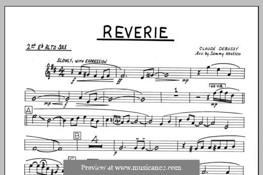 Reverie, for Orchestra, L.68: 2nd Eb Alto Saxophone part by Claude Debussy