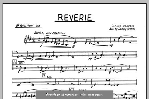 Reverie, for Orchestra, L.68: Baritone Sax part by Claude Debussy