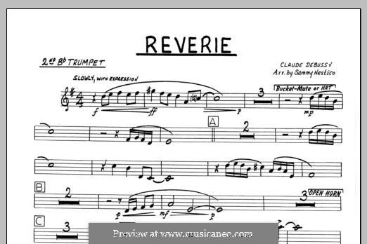 Reverie, for Orchestra, L.68: 2nd Bb Trumpet part by Claude Debussy