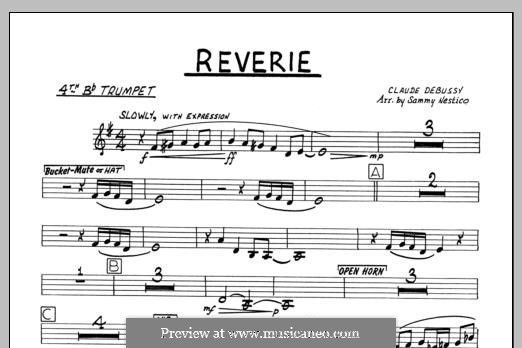 Reverie, for Orchestra, L.68: 4th Bb Trumpet part by Claude Debussy