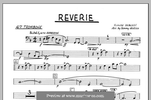 Reverie, for Orchestra, L.68: 4th Trombone part by Claude Debussy