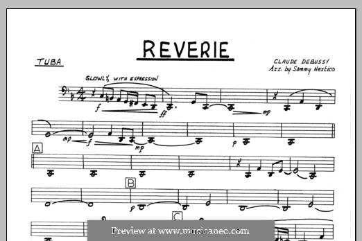 Reverie, for Orchestra, L.68: Tuba part by Claude Debussy