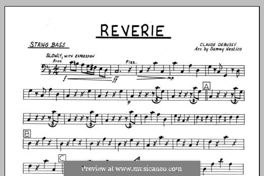 Reverie, for Orchestra, L.68: Bass part by Claude Debussy