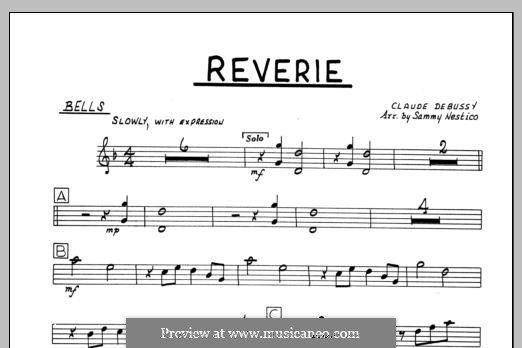 Reverie, for Orchestra, L.68: Bells part by Claude Debussy