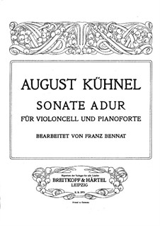 Sonata in A Major: For cello and piano by August Kühnel