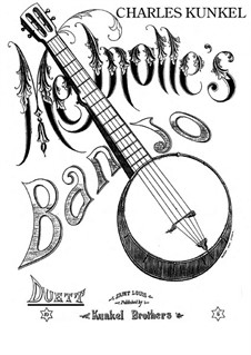 Melnotte's Banjo: For piano four hands – parts by Claude Melnotte