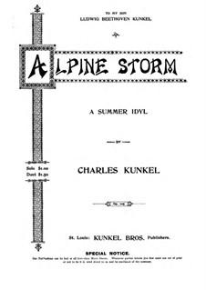 Alpine Storm, Op.105: Alpine Storm by Claude Melnotte