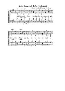 Ach Herr, ich habe vertrauet: Singpartitur by Ferdinand Möhring