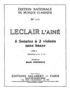Six Sonatas for Two Violins: Sonatas No.4-6 – violin I part by Jean-Marie Leclair