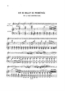 The Creatures of Prometheus, Op.43: Aria, for violin (or flute, or cello) and piano by Ludwig van Beethoven
