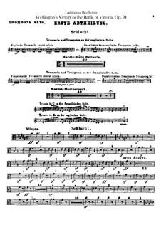 Wellington's Victory, or the Battle of Vitoria, Op.91: Trombones parts by Ludwig van Beethoven