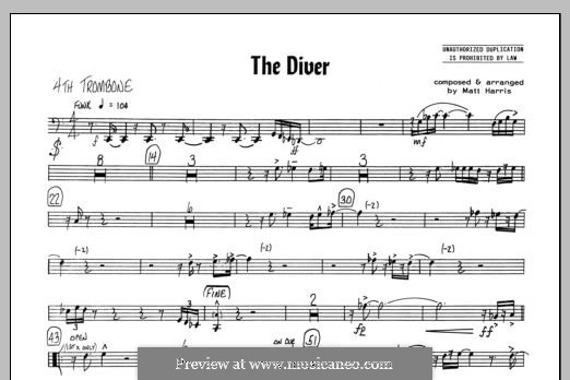 The Diver: 4th Trombone part by Matthew Harris