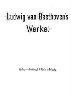 Three String Trios, Op.9: Version, for piano four hands by Ludwig van Beethoven