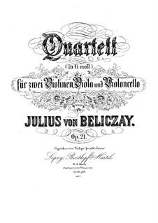 String Quartet in G Minor, Op.21: String Quartet in G Minor by Gyula Beliczay