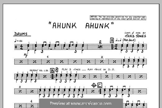 Ahunk Ahunk: Drums part by Thad Jones