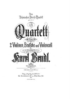 String Quartet in F Major, Op.119: String Quartet in F Major by Karel Bendl