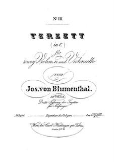 String Trio No.3 in C Major, Op.36: String Trio No.3 in C Major by Joseph von Blumenthal