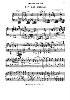 Rip Van Winkle, Op.22: Introduction, for Piano by George Frederick Bristow