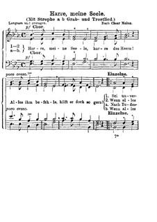 Harre meine Seele: Vocal score by Henri Abraham Caesar Malan