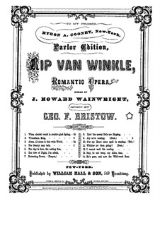 Rip Van Winkle, Op.22: The Gentry May Talk, for voices and piano by George Frederick Bristow