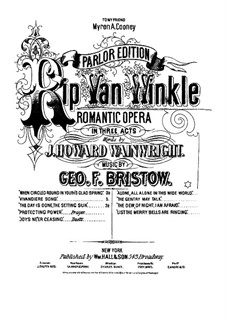 Rip Van Winkle, Op.22: The Day is Done, the Setting Sun (for voice and piano) by George Frederick Bristow