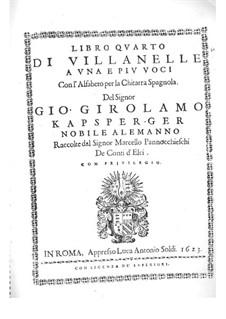 Villanelles for Voices and Guitar: Villanelles for Voices and Guitar by Johann Kapsberger