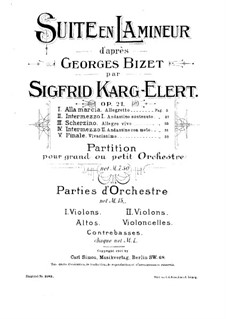 Suite in A Minor after 'Jeux d'enfants' by G. Bizet: Suite in A Minor after 'Jeux d'enfants' by G. Bizet by Sigfrid Karg-Elert