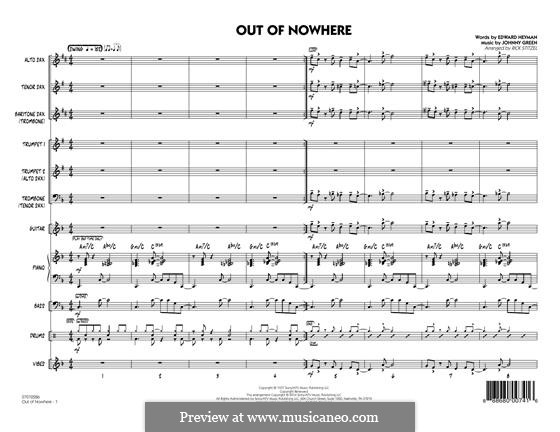 Out of Nowhere: Full Score by John W. Green