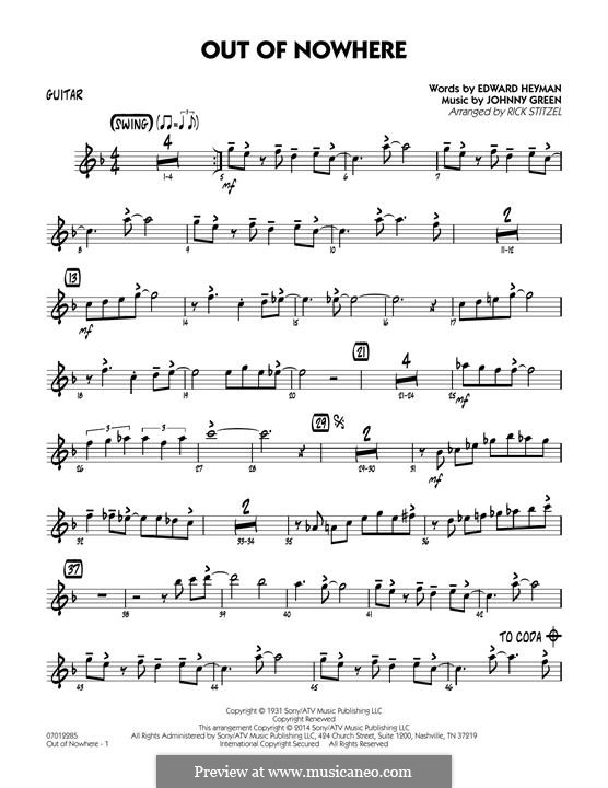 Out of Nowhere: Guitar part by John W. Green