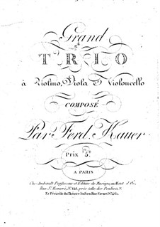 String Trio in E Flat Major: Violin part by Ferdinand Kauer