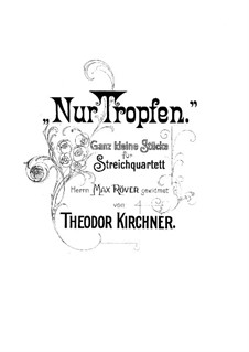 Nur Tropfen. Very Small Pieces for String Quartet: Nur Tropfen. Very Small Pieces for String Quartet by Theodor Kirchner