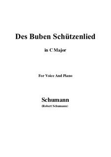 No.26 Des Buben Schützenlied: C Major by Robert Schumann
