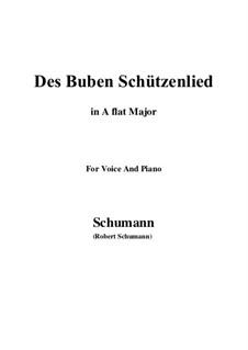 No.26 Des Buben Schützenlied: A flat Major by Robert Schumann