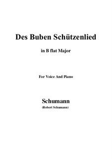No.26 Des Buben Schützenlied: B flat Major by Robert Schumann