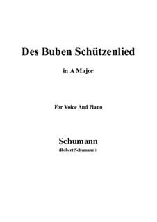 No.26 Des Buben Schützenlied: A Major by Robert Schumann