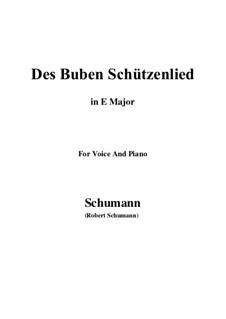 No.26 Des Buben Schützenlied: E Major by Robert Schumann