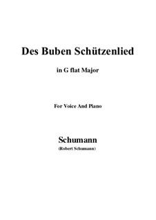 No.26 Des Buben Schützenlied: G flat Major by Robert Schumann