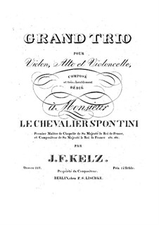 String Trio in E Flat Major, Op.128: Violin part by Johann Friedrich Kelz