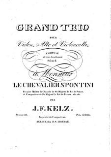 String Trio in E Flat Major, Op.128: Viola part by Johann Friedrich Kelz