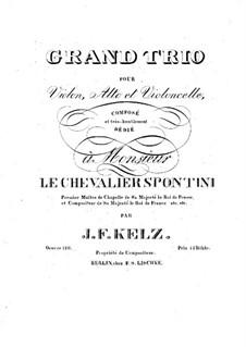 String Trio in E Flat Major, Op.128: Cello part by Johann Friedrich Kelz