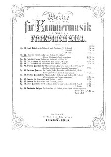 Piano Trio No.2 in A Major, Op.22: Score, parts by Friedrich Kiel