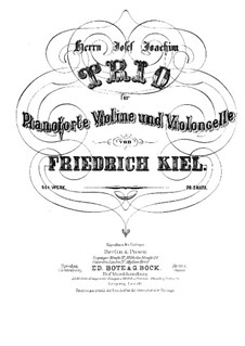 Piano Trio No.3 in E Flat Major, Op.24: Score, parts by Friedrich Kiel