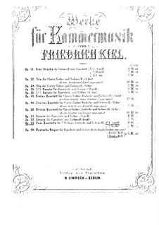 String Quartets, Op.53: Quartet No.1 – parts by Friedrich Kiel