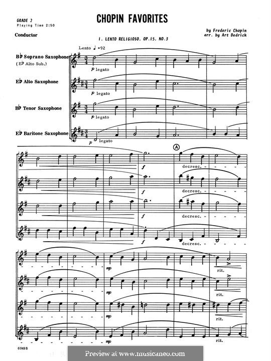 Chopin Favorites: Full Score by Frédéric Chopin