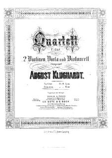 String Quartet in F Major, Op.42: Parts by August Klughardt