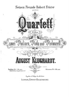 String quartet in D Major, Op.61: Parts by August Klughardt