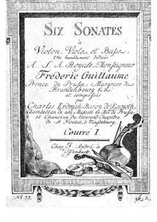 Six Sonatas for String Trio, Op.1: Violin part by Otto Carl Erdmann Kospoth