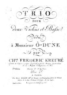 String Trio in D Minor, Op.6: Violin I part by Charles-Frédéric Kreubé
