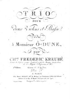 String Trio in D Minor, Op.6: Violin II part by Charles-Frédéric Kreubé